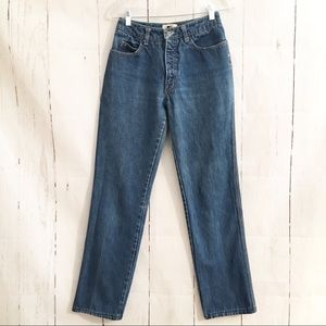 Vtg Calvin Klein Blue Jeans 70s High Rise Straight